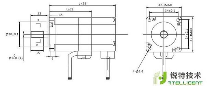 42系列步进电机尺寸图